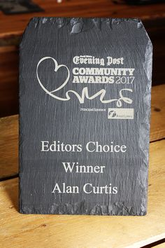 Here's a Welsh slate trophy we designes and laser engraved for our lovely customers at @sweveningpost which was presented last week.  You can design yours in store with one of our staff members or online at www.valleymill.co.uk/products/trophies