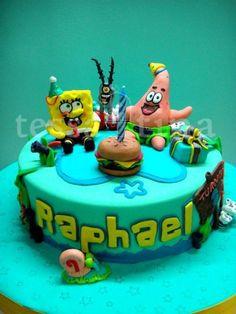 Spongebob Cake  Cake by tessatinacakes