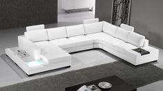 Sofá de ángulo, sofá rinconero Fritsch: una sofá de ángulo panorámico de piel
