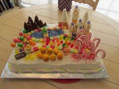 candy land cake - the hardest part was finding all the decor