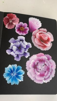 Painting Flowers Tutorial, Acrylic Painting Flowers, Canvas Painting Tutorials, Paintings Of Flowers, One Stroke Painting, Painted Flowers, Flower Art Drawing, Art Painting Gallery, Gouache