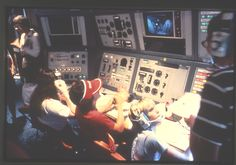 This is what Space Camp mission control used to look like.