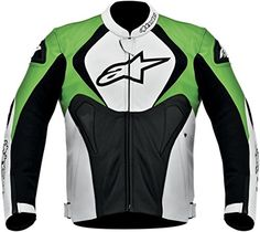 Special Offers - Alpinestars Jaws Perforated Leather Mens Riding Jacket (Black/White/Green Size 54) - In stock & Free Shipping. You can save more money! Check It (August 01 2016 at 12:48AM) >> http://motorcyclejacketusa.net/alpinestars-jaws-perforated-leather-mens-riding-jacket-blackwhitegreen-size-54/