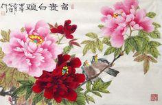Chinese Peony Painting,69cm x 46cm,2388079-x