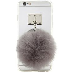 Forever21 Pom-Pom Case For IPhone 6/6S ($9.90) ❤ liked on Polyvore featuring accessories, tech accessories and forever 21