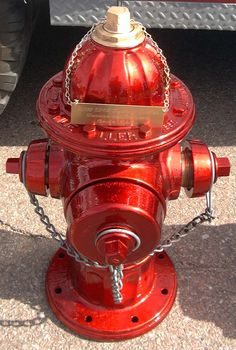 Red gloss Hydrant