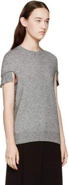 Opening Ceremony Grey Knit Top