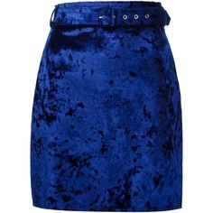 MSGM crushed velvet skirt ($224) ❤ liked on Polyvore featuring skirts, bottoms, blue, msgm skirt, msgm, crushed velvet skirt and blue skirt