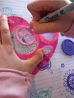 spirographs were the best until you ran out of paper