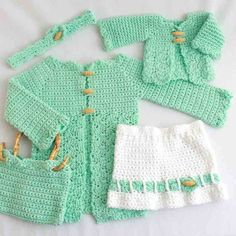 Instructions given fit Girls size 2/3. Changes for sizes 3/4 and 5/6 are given in parenthesis.  Maggie's Crochet · Little Miss and Doll Set Crochet Pattern