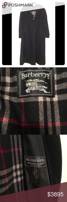 VTgBurberry Cappotto Loden Orginals New Wool Mens's Burberry Loden Cappotto Trench Coat 100 %Authentic  100 %New Pure Wool'  This coat was made for Burberrys Original Loden!  No signs of wear-  Size U.S 14 Color: Black ❄️Inner lining can be removed with the inner zipper!❄️ Please let me know if you have any questions Burberry Jackets & Coats Trench Coats