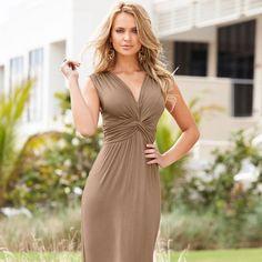 COMPRE MODA BARATA NO ATACADO E VAREJO, PREÇOS ESPECIAIS PARA LOJISTAS, ACESSE: http://www.bonprix.com.br/produto/vestido-bege-estampado-2427484/?bundle=10502107&mkt=PH5492#image
