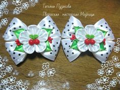 Одноклассники Cloth Flowers, Satin Flowers, Fabric Flowers, Ribbon Projects, Kanzashi Tutorial, Hair Products Online, Fabric Flower Tutorial, Baby Hair Clips, Kanzashi Flowers