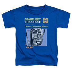 Star Trek/Tricorder Manual Short Sleeve Toddler Tee in Royal, Toddler Boy's