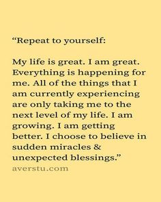 We all know that I LOVE affirmations. It may sound crazy, I know, but I swear to you that positive affirmations have really enriched and blessed … Positive Self Affirmations, Positive Affirmations Quotes, Affirmation Quotes, Affirmations For Women, Morning Affirmations, Quotes About Positivity, Positive Thoughts Quotes, Prosperity Affirmations, Affirmations Success