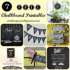 Free Chalkboard Printables via weddings.craftgossip.com
