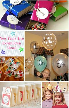 New Years Craft for kids - we'll have kids in the house as we count down to midnight. This seems like a good idea to keep them going all night long.