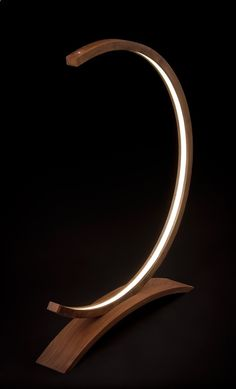 unique led lightning for interiors and gardens www.urbanforest.c... Piotr Fox Wysocki, led,bent wood, lamp, light sculptures, black walnut, hand made, art, modern design, moonlight, New Zealand, rna, dna, flame, wave