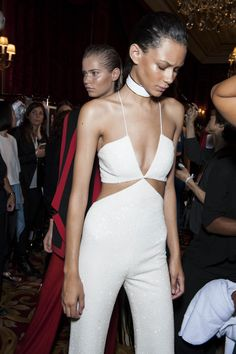 Backstage Pass: Paris Fashion Week Spring 2015 - Backstage at Balmain Spring 2015