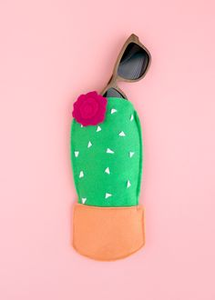 A Kailo Chic Life: DIY It - A Felt Cactus Sunglasses case - Learn how easy it is to make your own cacti sunglasses case for spring and summer. Target, paper source, bando