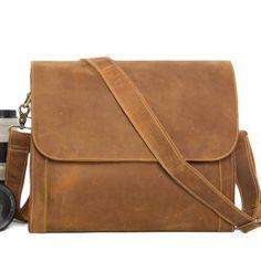Genuine Leather DSLR Camera Bag, Messenger Bag, Leather SLR Camera Pou – EchoPurse