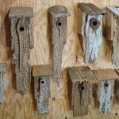 Stunning Bird Houses - A collection of beautiful Birdhouses repurposed wood clock Bird House Plans, Bird House Kits, Bird House Feeder, Rustic Bird Feeders, Unique Bird Feeders, Bird Houses Diy, Building Bird Houses, Homemade Bird Houses, Wooden Bird Houses