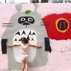 Seven-year-old #Lola Glass, #graffiti #artist who's making her mark in #Brooklyn and #Miami with colorful #murals.
