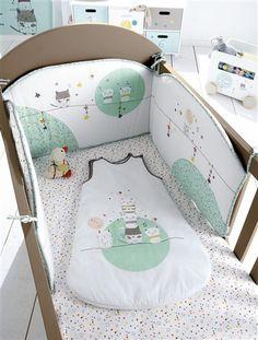 Tour de lit bébé brodé thème Chat perché MULTICOLORE - vertbaudet enfant : 35€ hors promo