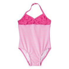 My New Bon Voyage Collection is setting at Target!  Circo® Infant Toddler Girls' Striped Halter 1-Piece Swimsuit