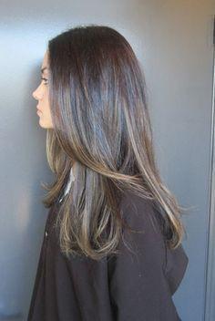Natural Looking Highlights Dark Brown Hair Google Search