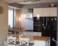 Kuchnia z jadalnią. - zdjęcie od KRUBA DESIGN Kitchen, Table, Furniture, Home Decor, Living Room, Cooking, Decoration Home, Room Decor, Kitchens
