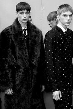 Laurie Harding&Dominik SadochBackstage @Dior HommeFall/Winter 2014  Paris Fashion Week