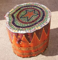 Stump Stool by Chris Emmert - looks time consuming, but how cool got the fire pit
