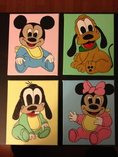 This is a set of 4 I currently have up for sale, thanks for looking! Check out my facebook page at Caught Your Eye Murals Wall Murals, Scooby Doo, My Friend, Mickey Mouse, Disney Characters, Fictional Characters, Thankful, Eye, Facebook