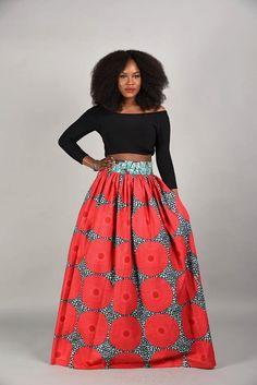 SPRING SALE Circle bun Maxi Skirt African print skirt by RAHYMA