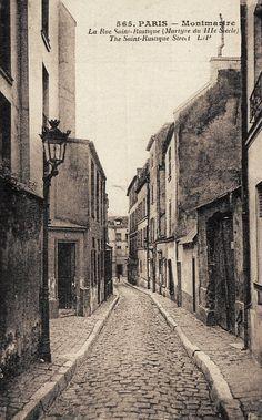 rue Saint-Rustique - Paris 18e Une vue relativement rare de la rue Saint-Rustique, parce que prise de haut en bas...