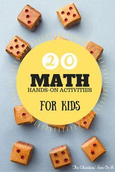 20 Hands On Math Activities for Kids