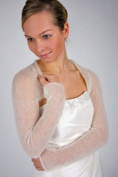 Items similar to Bridal Shrug Wedding Bolero knit Jackett for your wedding dress or evening dress made in Germany it is warm the perfect wedding accessory on Etsy Wedding Shrug, Bridal Bolero, Wedding Bride, Lace Shrug, Mohair Cardigan, Shrugs And Boleros, Shrug For Dresses, Wedding Wraps, Bolero Jacket