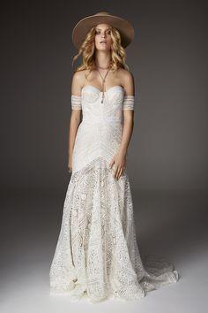 Rue De Seine off the shoulder wedding dress - 2017 Love Spell Collection