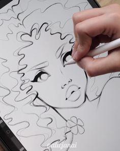 Digital Painting Tutorials, Digital Art Tutorial, Art Tutorials, Concept Art Tutorial, Art Drawings Sketches Simple, Pencil Art Drawings, Digital Art Beginner, Ipad Art, Cute Art