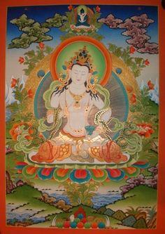 Vajrasattva Thangka #tibetan #thangka