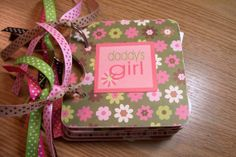 Girl Premade Mini Scrapbook Album Daddy's Girl by HampshireRose, $25.00