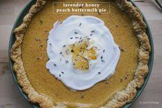 lavender honey peach buttermilk pie