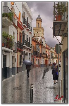 Streets of Seville. Bay Of Biscay, Iberian Peninsula, Portugal, Mediterranean Sea, Atlantic Ocean, Street View, Europe, France, Landscape