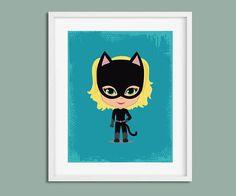 Nursery Wall Art, Superhero Girl, Superhero Nursery, Superhero Bedroom, Superhero Wall Art, Superhero Print, Nursery Print, Female Superhero