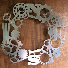 steampunk wreath
