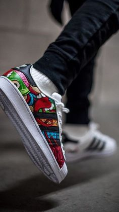 Custom Sneakers, Custom Shoes, Vans Shoes Fashion, Adidas Boots, Nike Air Shoes, Fresh Shoes, Adidas Superstar, Kicks, Adidas Men
