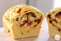 A Year of Yeast: Gorgonzola and Sun-Dried Tomato Bread - Inspired by Charm