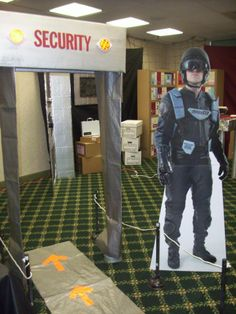 VBS 2014 decor Security scanner in front of church or in foyer?