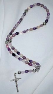 Purple Fluorite Rosary by AllToolsPrayerful on Etsy.   Shop for 1st Communion and Confirmation Rosaries for young and adult. Custom requests also accepted.    Visit AllToolsPrayerful for many Christian products.